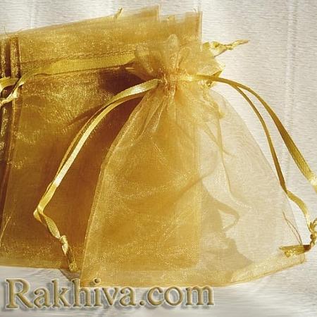 Торбички от органза злато, 5 см/7 см, (5/75/82200-1)