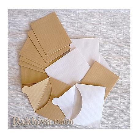 Пликове за малки картички, злато (10бр.)