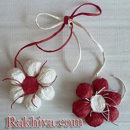 Как да си направим цвете сами (комплект), комлект за цвете (бяло, червено)