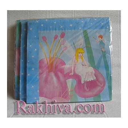 Салфетки за парти  Приказни принцеси, Луксозни салфетки (16бр.) (617302)