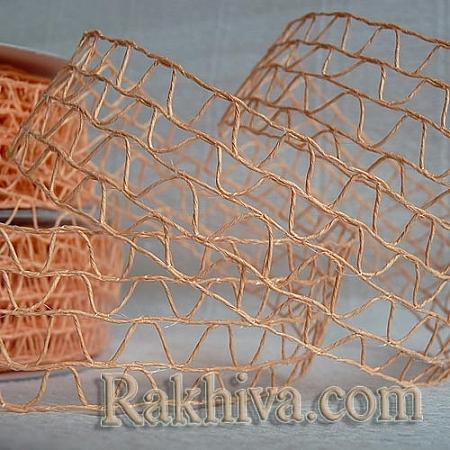 Хартиена панделка мрежа, праскова