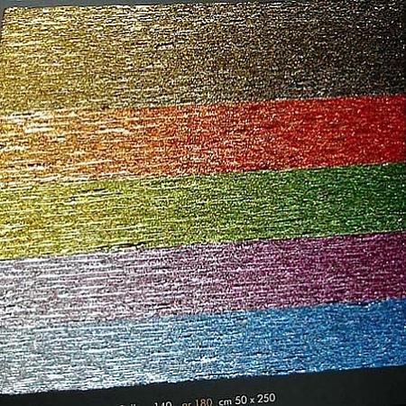 Луксозна крепирана хартия (Италия Cartotecnica rossi), червено,злато кат.№ 801/1