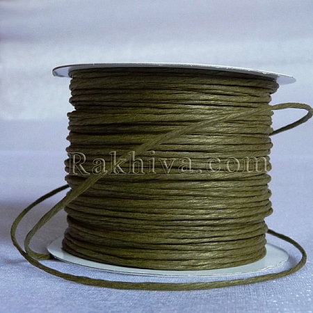 Хартиен шнур с тел, цвят маслина (2/25/6163) (ролка 22,5 м)