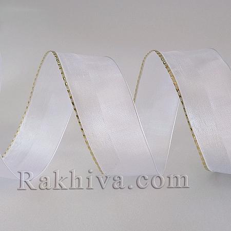 Тъкани панделки Ракхива, 1 ролка 4 см/10 см с тел 4/10/2610/T71