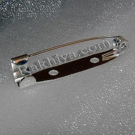 Метална закопчалка - цвят сребро (секретна игла), 20x5x5mm 10 бр. (E035Y-S)