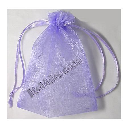 Торбички от органза лилаво, 5 см/7 см, (5/7/8290-1)