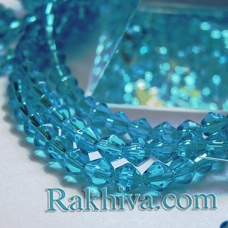 Сваровски кристални (имитация) - св. синьо, 1 наниз GB4mmC20 (4мм/ 85-90бр.)