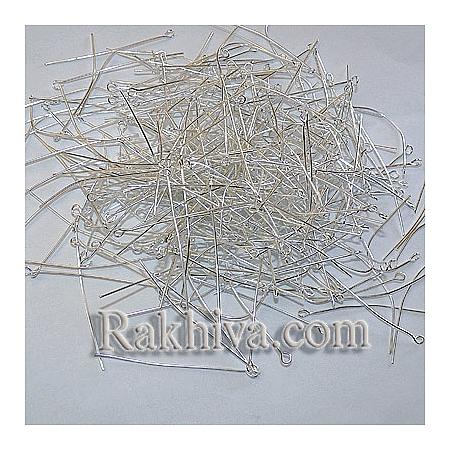Игли за бижута - цвят сребро, 20 гр. (EPS5.0cm)