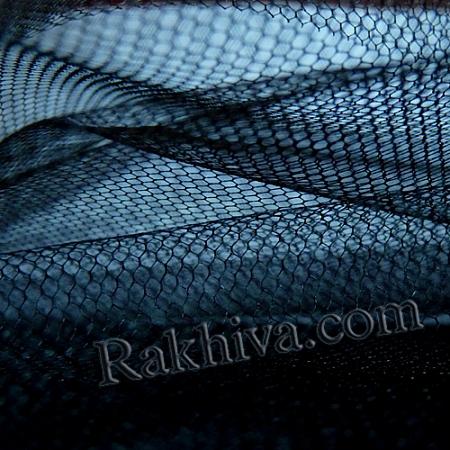Сватбен тюл - черно, черно (84/20) над 50 л.м