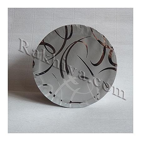 Кутии за подаръци, кръг № 055/50 (сребро, сребро) метализе, КР2(d=9см/ h=6,5см)