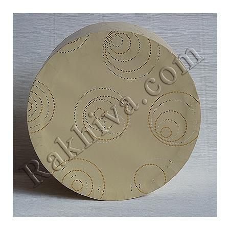 Кутии за подаръци, кръг № 93А/41 метализе, КР2(d=9см/ h=6,5см)