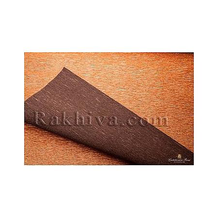 Крепирана хартия (Италия Cartotecnica rossi) - метализе двустранна, 808/6 (медно, кафяво)