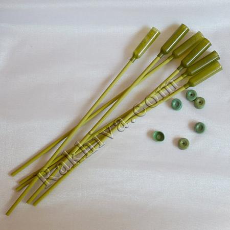 Капсули за цветя с дръжка, къса дръжка 30 см (20бр.)
