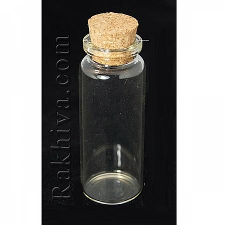 Стъклени шишенца за съхранение на мъниста, за изработка на талисманчета, 1 бр., 16/53мм (CON-E008 60x16mm)