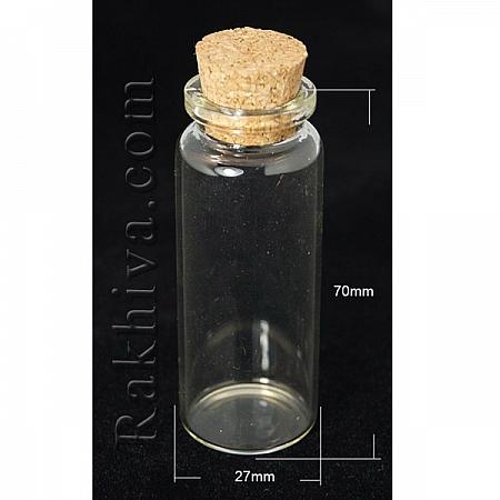 Стъклени шишенца за съхранение на мъниста, за изработка на талисманчета, 1 бр (AJEW-H004-2) отвор:16 мм