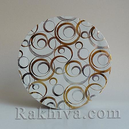 Кутии за подаръци, кръг 250/63 метализе, КР2(d=9см/ h=6,5см)