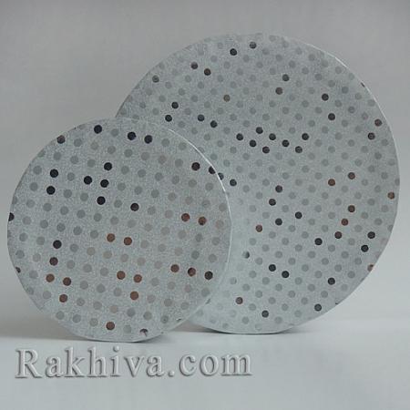 Кутии за подаръци, кръг № 71B/51 метализе, КР2(d=9см/ h=6,5см)