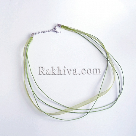 Връзка - колие органза със закопчалка, грах  FIND-R001-7 (1 бр.)