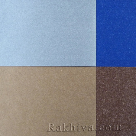 Тишу метализе (Италия Cartotecnica rossi) - Двустранно, кат.№ Z8006 (сребро, синьо)