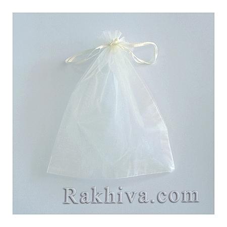 Торбички от органза шампанско, 5 см/7 см,  (5/7/8213-1)