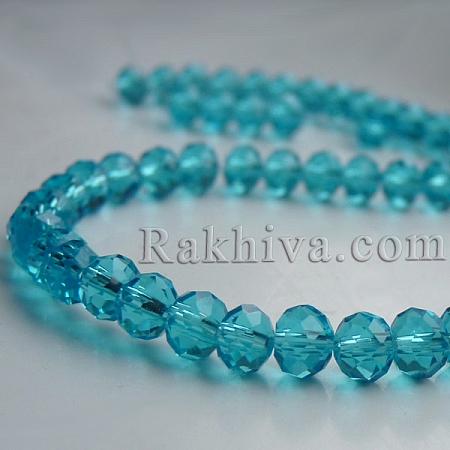 Сваровски кристални, ръчна изработка (имитация), 6х8мм св. синьо (G02YI0M2)