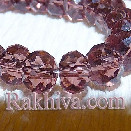 Сваровски кристални,  ръчна изработка (имитация), роза Винтидж 6мм/4мм (G02YI031)