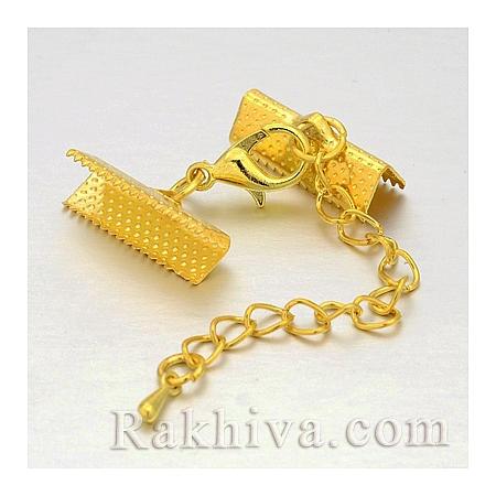 Клипса - закопчалка за бижута, 1 бр., злато (IFIN-M020-02)