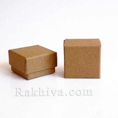 Кутия квадрат, натурал, 70x70x25 мм (1бр.)