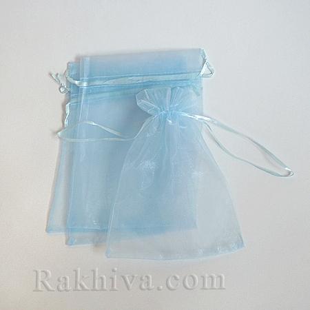 Торбички от органза бебешко синьо, 15 см/ 20 см, (15/20/8252)