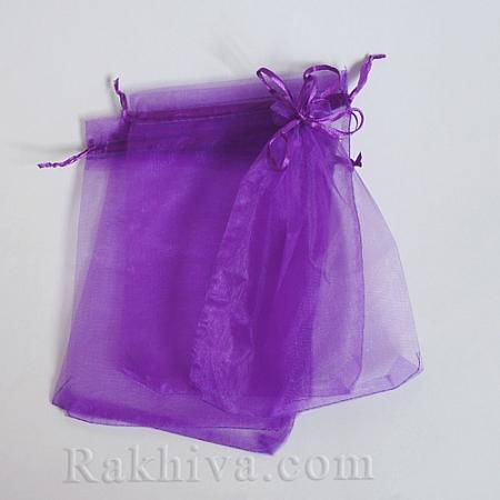 Торбички от органза тъмно лилаво, 7 см/ 9 см, (7/9/8295)