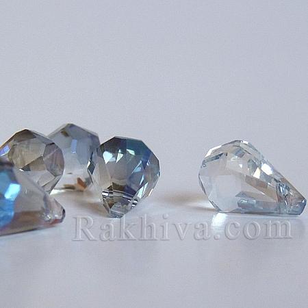 Кристални мъниста (стъклени) Диамант, 1 бр., синьо (EGLA-N0001-33A-C01)
