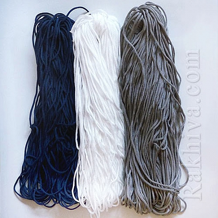 Връзки за торбички, 100 м, т. синьо (4/100/7755)