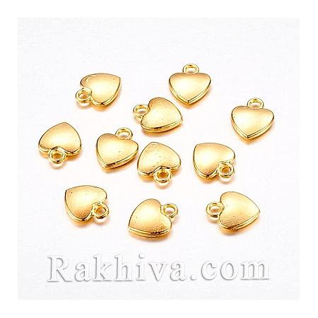 Сърца цвят злато, 10бр. (K08QL011)
