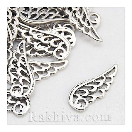 Ангелски крила цвят ретро сребро