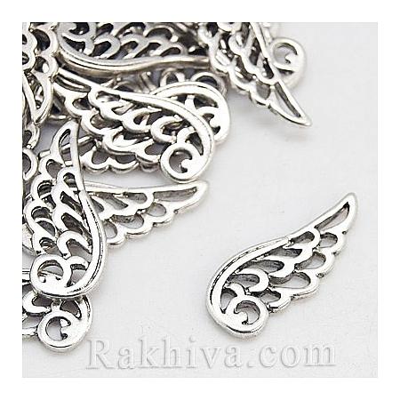 Ангелски крила цвят ретро сребро, 10бр. (TIBEP-LF10839YKG-AS-LF)