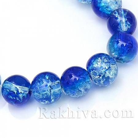 Стъклени мъниста, синьо (CCG-S001-6mm-16)