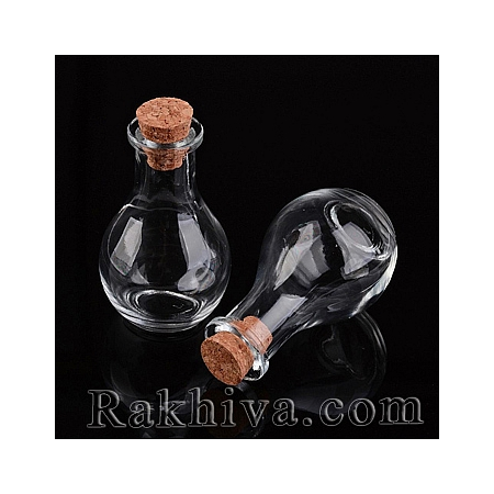 Стъклени шишенца, 1 бр (AJEW-H006-1)