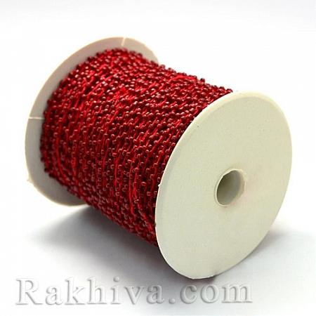 Мъниста, наниз, 3м, червено OCOR-R039-A15)