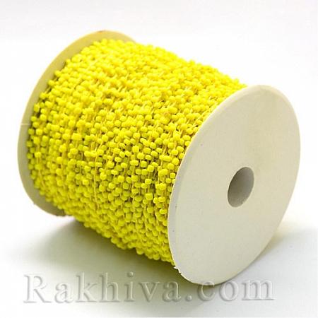 Мъниста наниз, 3м, жълто (OCOR-R039-A05)