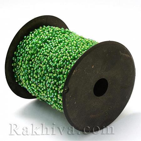 Мъниста, наниз, 3м, т. зелено (OCOR-R039-G04)