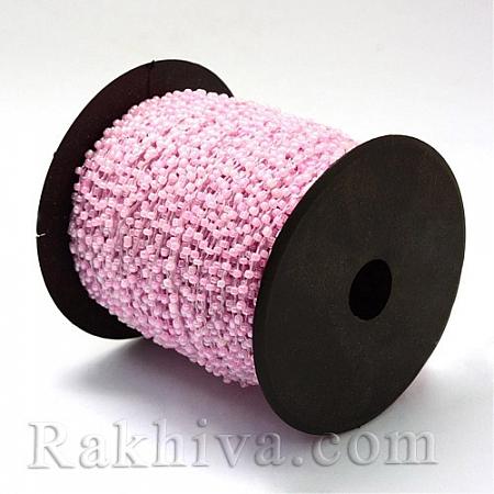 Мъниста, наниз, 3м, розово (OCOR-R039-F07)