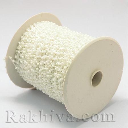 Мъниста, наниз, 3м, бяло (OCOR-R039-N04)