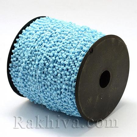Мъниста, наниз, 3м, св. синьо (OCOR-R039-E02)