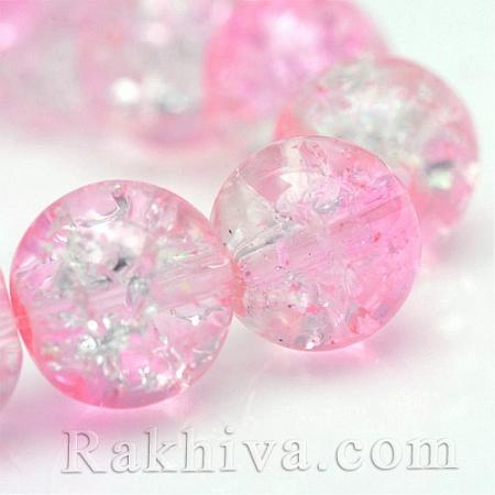стъклена мъниста, розова