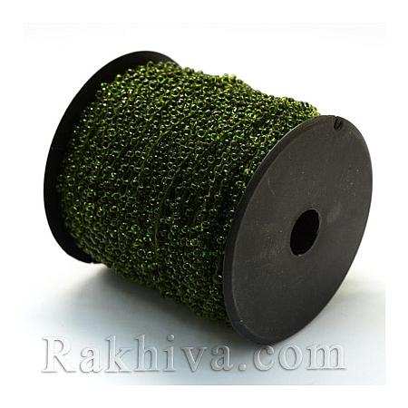 Мъниста, наниз, 3м, тревисто зелено (OCOR-R039-I03)