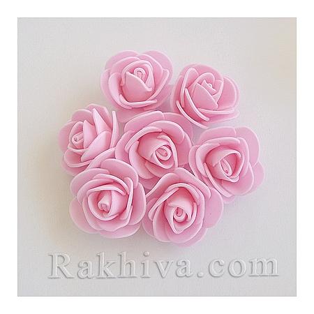 Силиконови розички, вечни рози, розово (3,5 см/ 10 бр.)