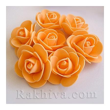 Силиконови розички, праскова  (3,5 см/ 10 бр.)