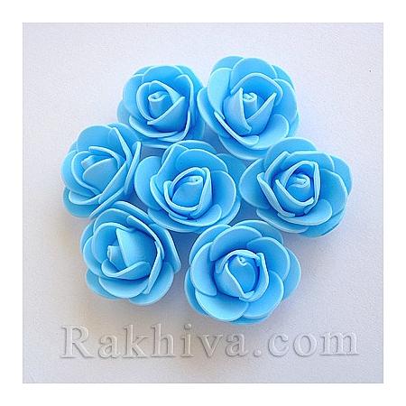 Силиконови розички, светло синьо  (3,5 см/ 10 бр.)
