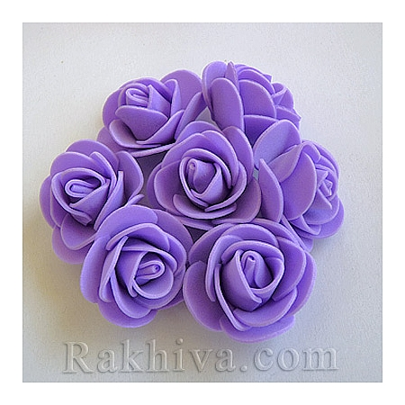Силиконови розички, лилаво  (3,5 см/ 10 бр.)