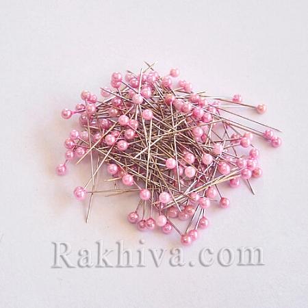 Игли с перли  OASIS цвят розово, 1 кутия розово (144 бр.)